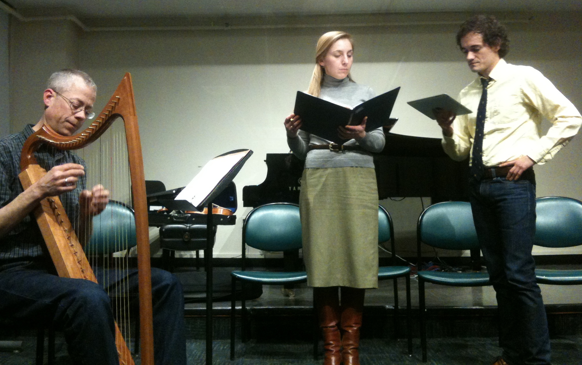 Musicians at the BU Center for Early Music's Performing 15th-Century Song workshop.