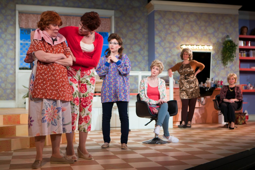 A private moment in the Old Log Theater's production of Steel Magnolias. Photo courtesy of the Old Log Theater.