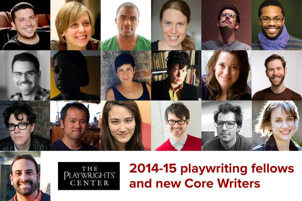 Some of the Playwrights' Center's 2014-2015 Playwriting fellows and other award recipients.