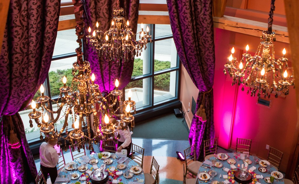 Pre-dinner setup for the Children's Theatre Company's 2013 Curtain Call Ball. Photo by Dan Norman.