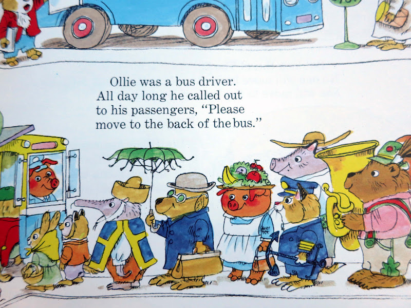 A page from one of Richard Scarry's Busytown books.