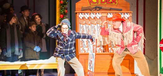 Ralphie (Jake Goodman, center) with the object of his holiday desire. Photo by Christian Brown.