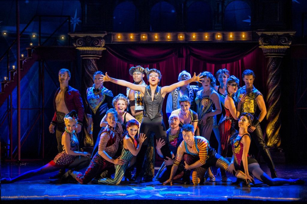 Sasha Allen and the touring cast of Pippin. Photo by Terry Shapiro.